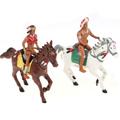детские наборы фигурок ковбоев и индейцев