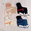 головные уборы и шарфы для новорожденных в комплектах
