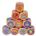 сувенирные цветные гадальные кубики-приколы 10 штук