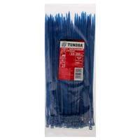 Хомут нейлоновый TUNDRA krep, для стяжки, 3.6х200 мм, цвет синий, в упаковке 100 шт