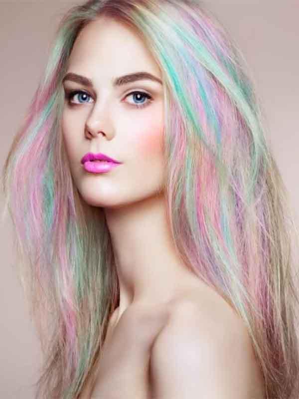 Разноцветный блонд