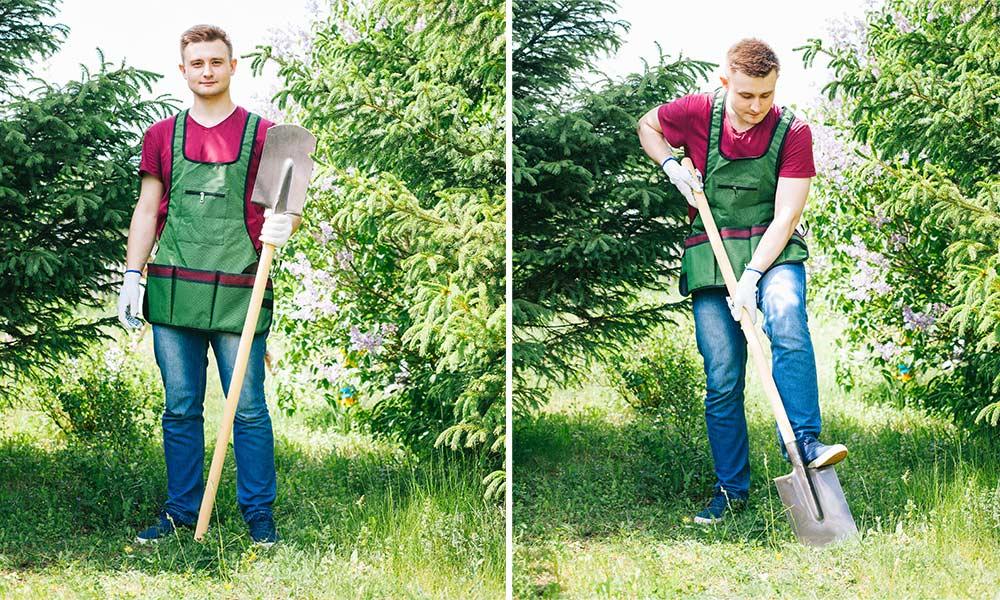 Упражнения с лопатой