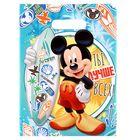 """Пакет подарочный полиэтиленовый Микки Маус  """"Ты лучше всех!"""", 22,3 × 29,2 см, 30 мкм"""