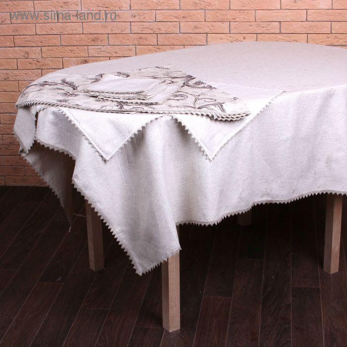 Набор столовый  Биолен арт. 4245 скатерть 110*156 см, салфетки 38*38 см 4шт,хл.81%,лен 19%