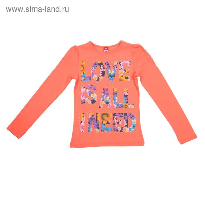 Джемпер для девочки, рост 140 см (72), цвет коралловый  CWJ 61238_Д