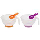 """Набор """"Кухонный"""", 2 предмета: миска для миксера 1 л с ручкой, сепаратор для яиц, цвет МИКС"""