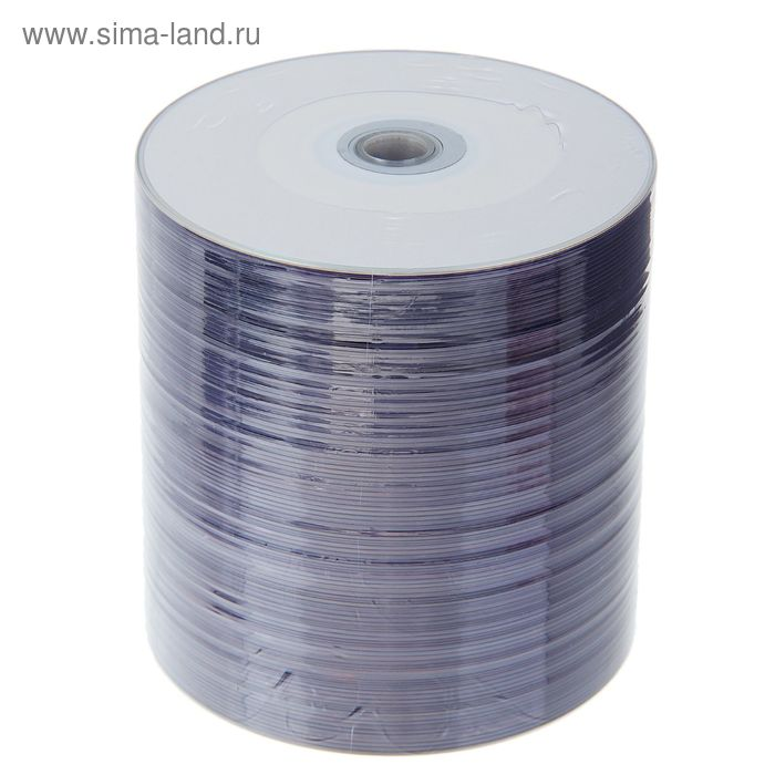 Диск DVD-R Data Standard Printable Inkjet, 16x, 4.7 Гб, Спайка, 100 шт
