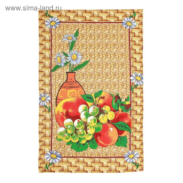 """Полотенце кухонное Collorista """"Фрукты"""", размер 48х72±2, 100% хлопок, вафельное полотно 162 г/м2"""
