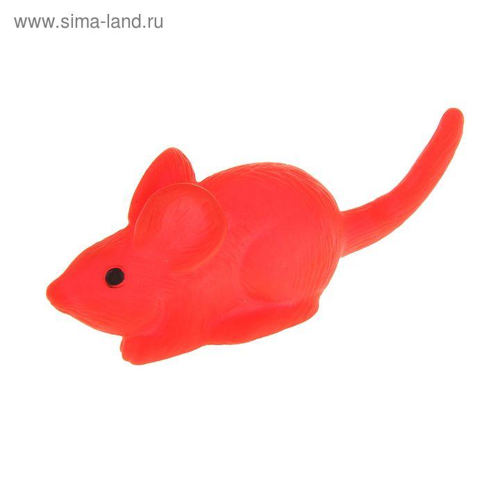 """Игрушка резиновая """"Мышь"""" малая, 9 см, микс цветов"""