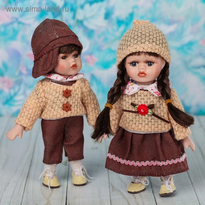 """Кукла коллекционная """"Женя и Лиза"""" набор 2 шт"""