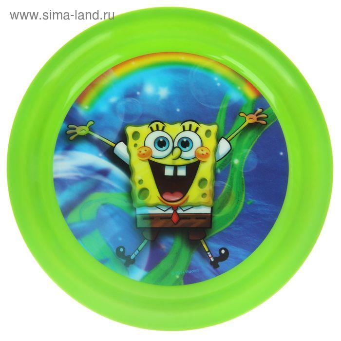 """Тарелка 19 см """"Губка Боб"""", цвет зеленый 3D"""