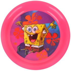 Тарелка 19 см 'Губка Боб', цвет розовый 3D Ош