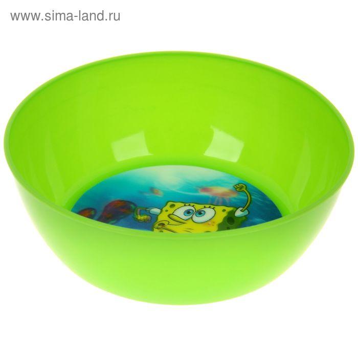 """Миска 15 см """"Губка Боб"""" , цвет зеленый 3D"""