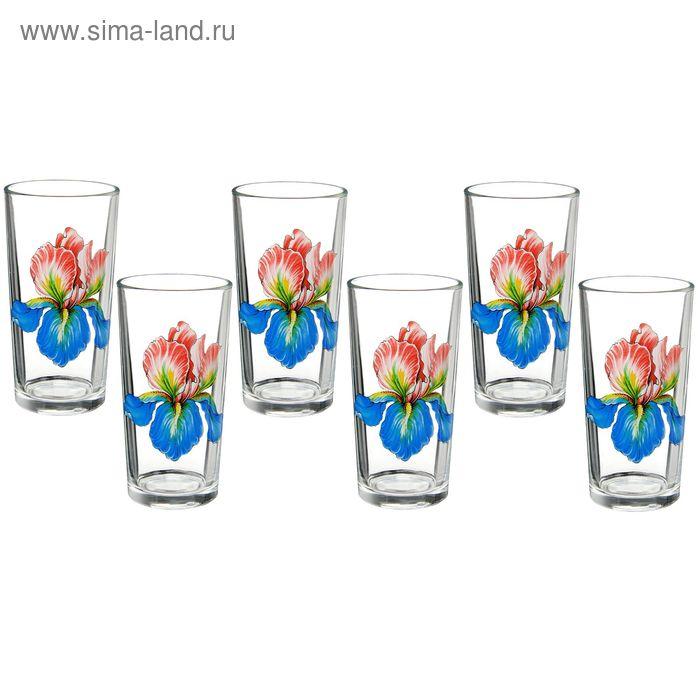 "Набор стаканов 200 мл ""Ирис"" , 6 шт"