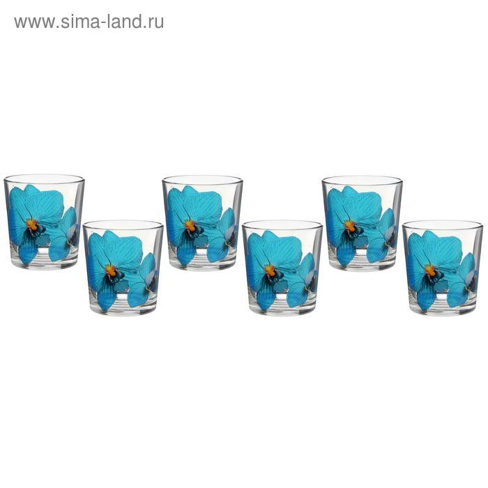 """Набор стаканов 6 шт 250 мл """"Орхидея синяя"""""""