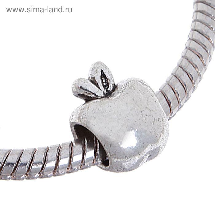 """Талисман """"Яблоко"""", цвет серебро"""