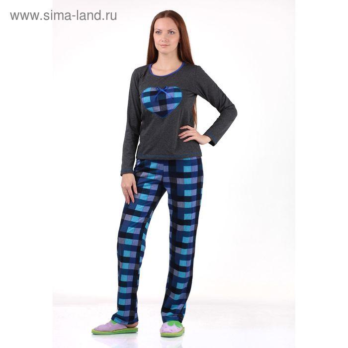Комплект женский (фуфайка, брюки) Мишель-2 синий р-р 44