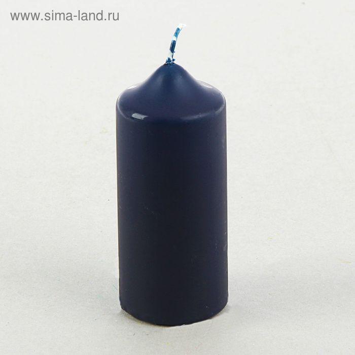 Свеча классическая 5х12 см, синяя