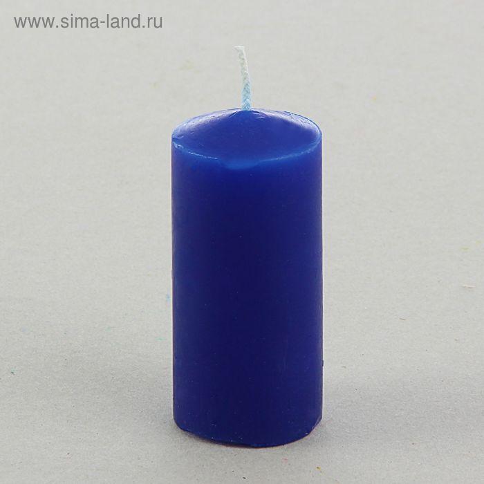Свеча классическая 4х8,5 см, синяя