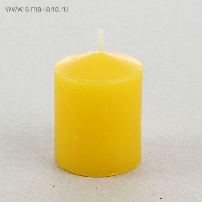 Свеча классическая 4х5 см, желтая