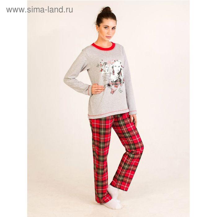 Комплект женский (фуфайка, брюки) Ангел красный, р-р 52 футер