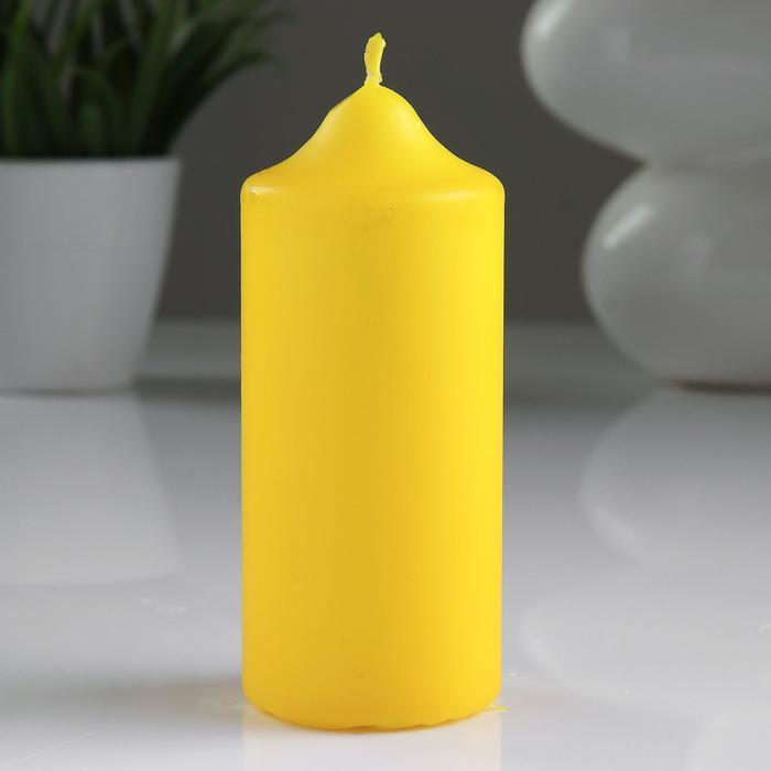 Свеча классическая 5х12 см, желтая