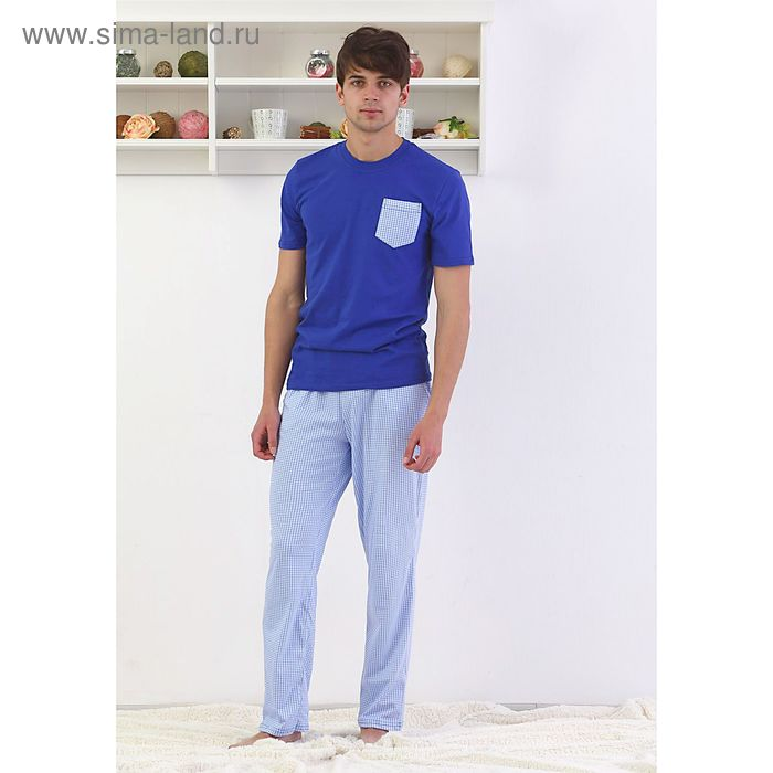 Пижама мужская, цвет синий, размер 52 (арт. FS 2238)