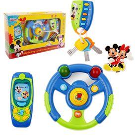 """Набор музыкальных игрушек """"Микки"""": руль, телефон, брелок, Микки Маус и друзья, световые эффекты, + БОНУС"""