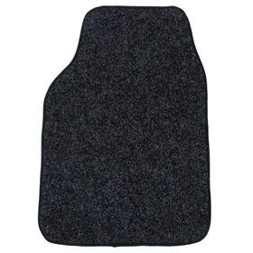 Коврик автомобильный ворсовый передний, 66х47 см, черный