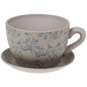 "Кашпо-чашка ""Чайная пара"" бежевое 2,25 л"