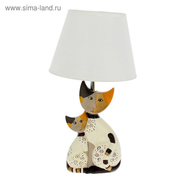 """Лампа настольная с абажуром """"Лунные коты"""""""