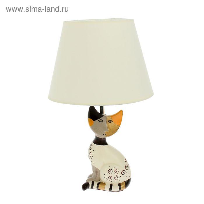 """Лампа настольная с абажуром """"Лунный кот"""""""