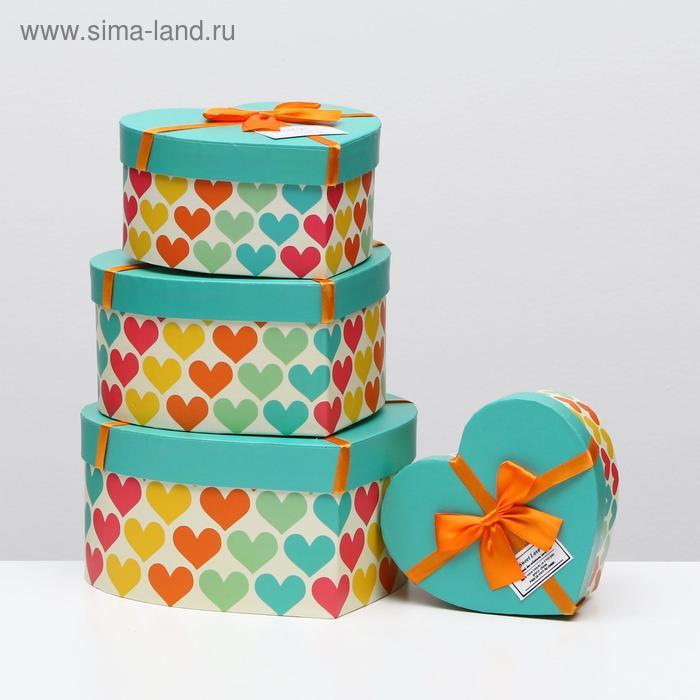 """Набор коробок 4 в 1 """"Сердце"""""""