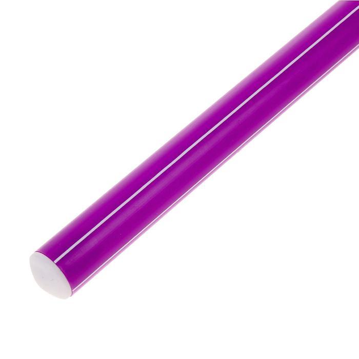 Палка гимнастическая 30 см, цвет: фиолетовый