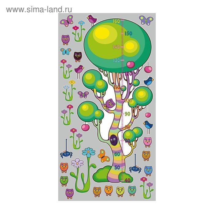 """Ростомер детский с наклейками """"Волшебное дерево"""""""