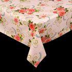 """Клеенка столовая на нетканой основе """"Декомир. Хризантема"""", рулон 20 м, цвет розовый"""