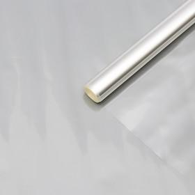 Пленка для цветов прозрачная 800 мм х 6 м, 200 гр, 40 мкм