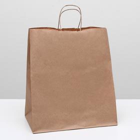 Пакет крафт без печати, круглая ручка 32 х 20 х 37 см Ош