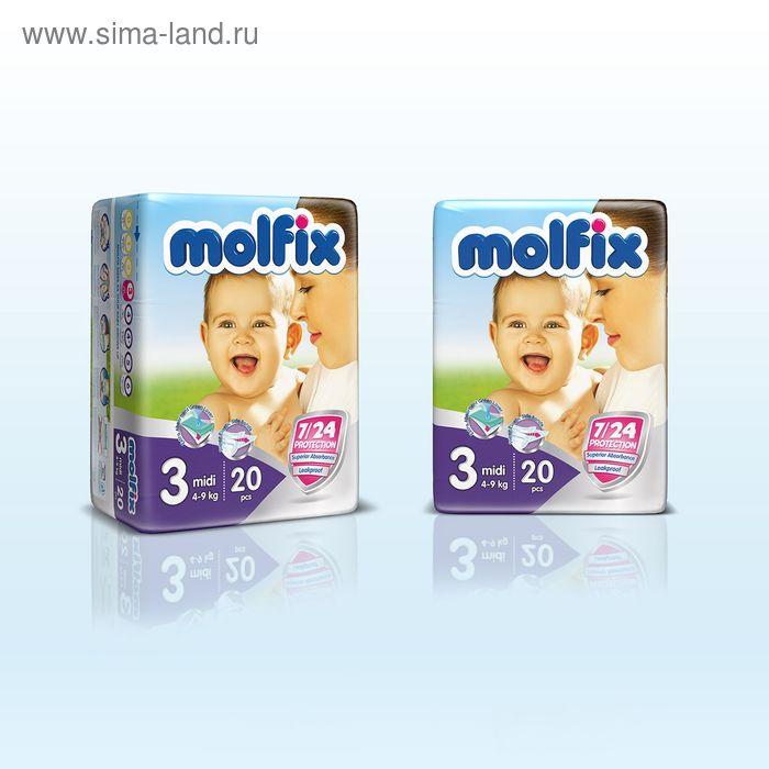 Подгузники «Molfix» Midi, 4-9 кг, 20 шт/уп