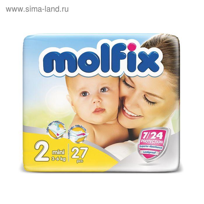 Подгузники «Molfix» Mini, 3-6 кг, 27 шт/уп