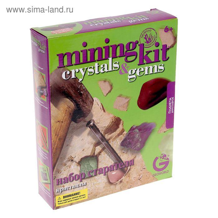 """Набор геолога """"Кристаллы"""" коробка с окном ED231KR"""