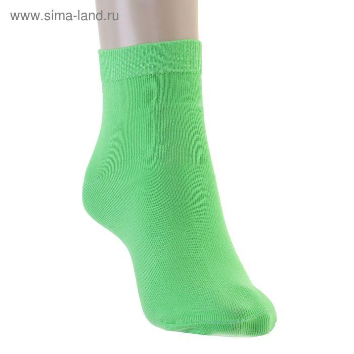 Носки женские, размер 23 (размер обуви 36), цвет зеленый 12232