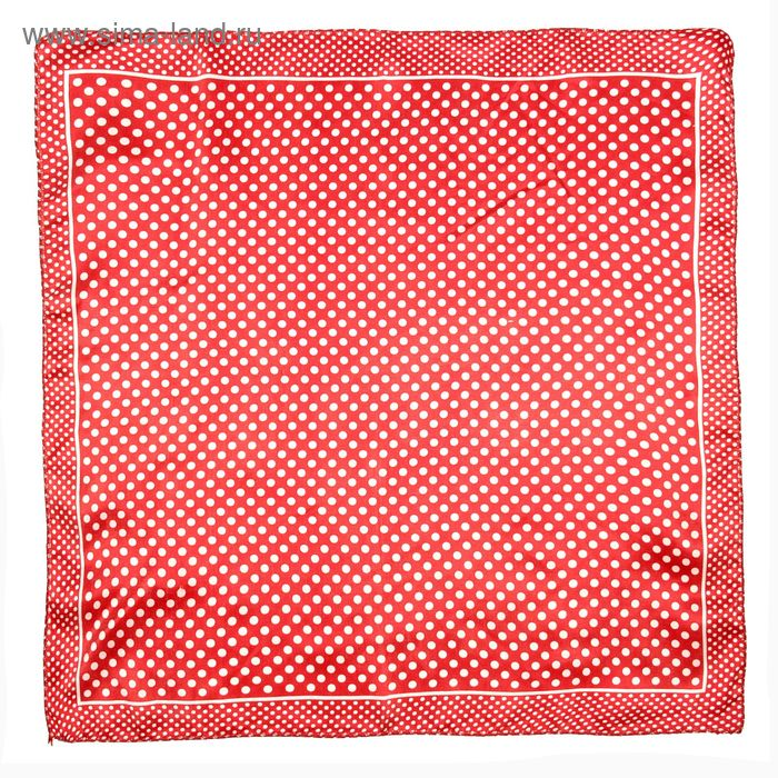 Платок женский Горошек красный 50х50 см