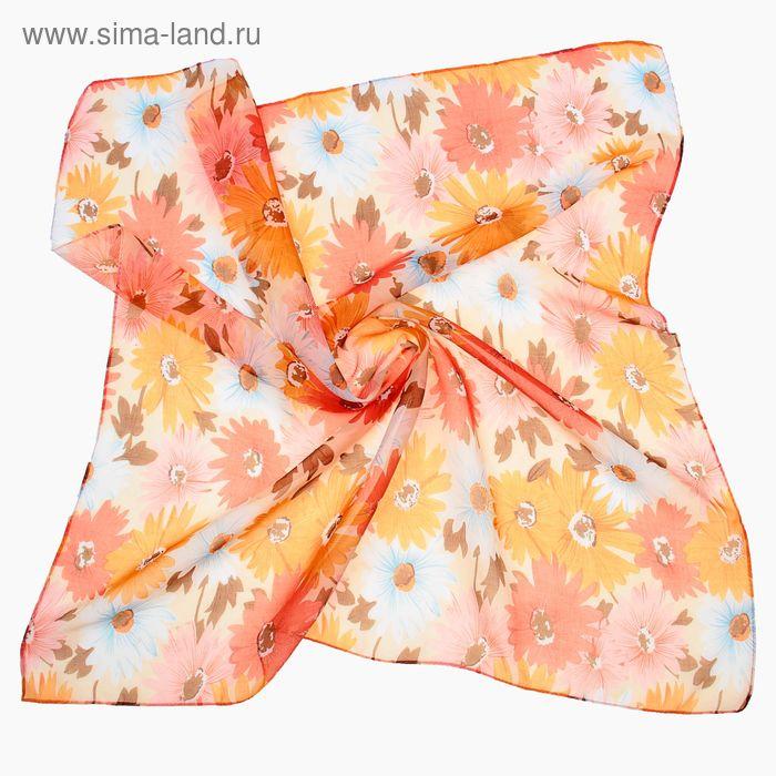 "Платок женский ""Осенняя полянка"", размер 70х70 см"