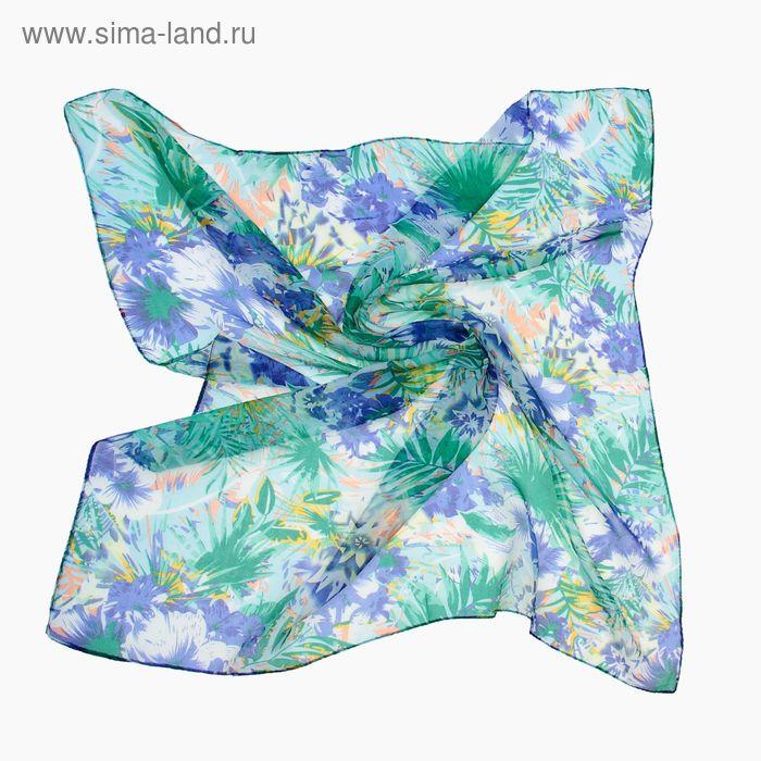 """Платок женский """"Сказка"""", размер 70х70 см, цвет зелёный"""