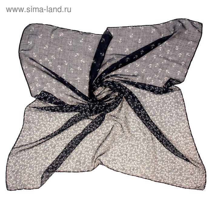 """Платок женский """"Морской"""" размер 90х90 см"""
