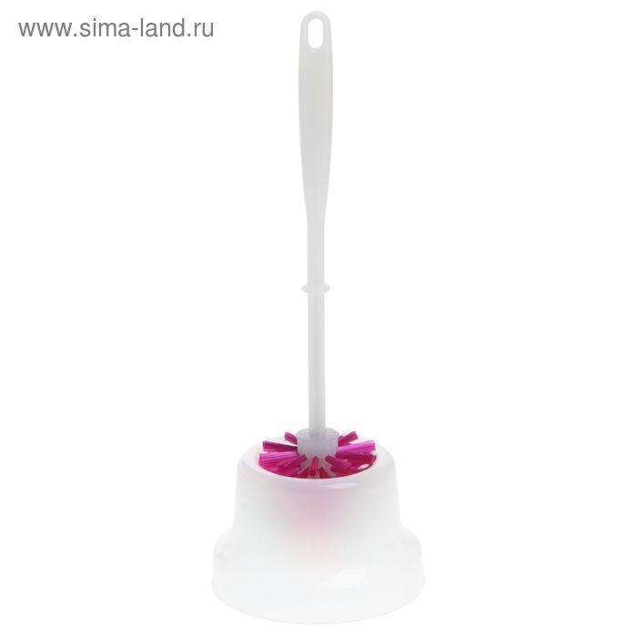 Ерш для унитаза с подставкой Elite Arona Mini, цвет малиновый