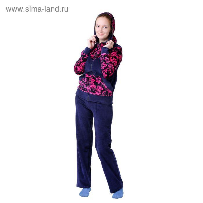 Костюм женский К-31 малина, р-р 42 велюр