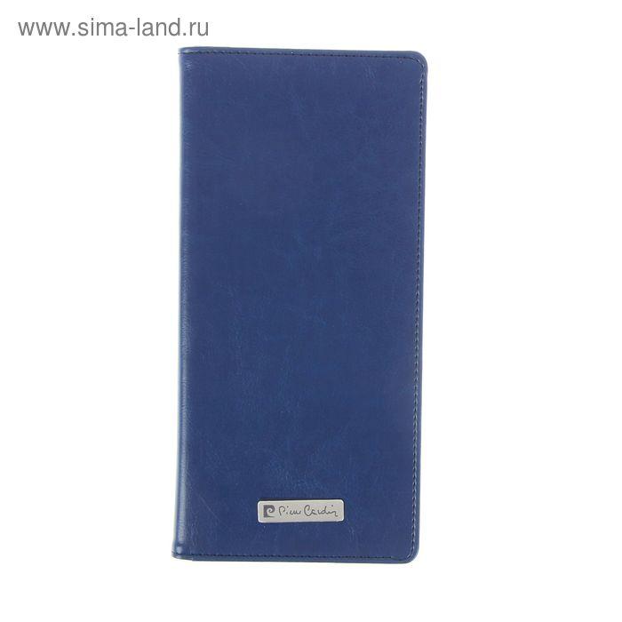Трэвел-обложка Pierre Cardin Gloire Рецик, синяя, кожзам