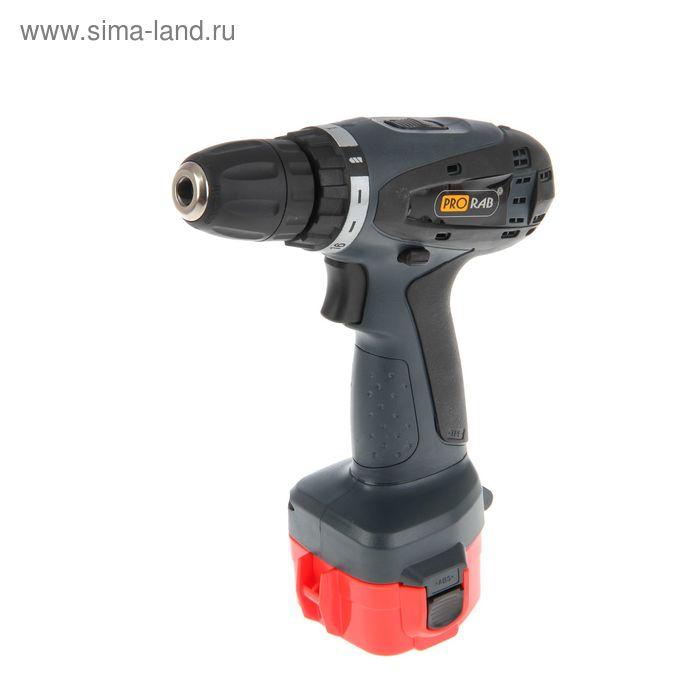 Шуруповерт аккумуляторный Prorab 1712К1, 12 В, 0-550 об/мин, заряд 1 час